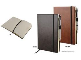 A5 Classica Notebook with Elastic Closure_Black and Tan